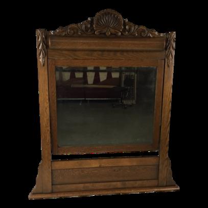 Antique Table Top Vanity Mirror Dressing Beveled Mirror