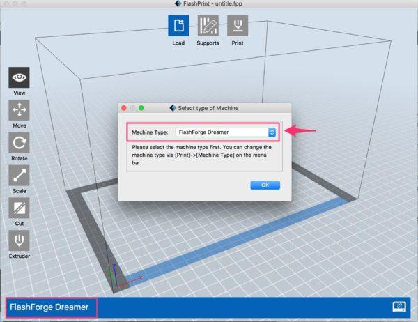 flashprint prompting printer selection
