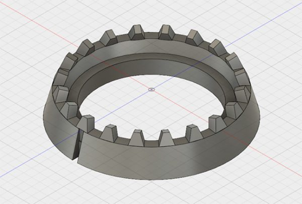Makey makey Dial Base in Fusion 360