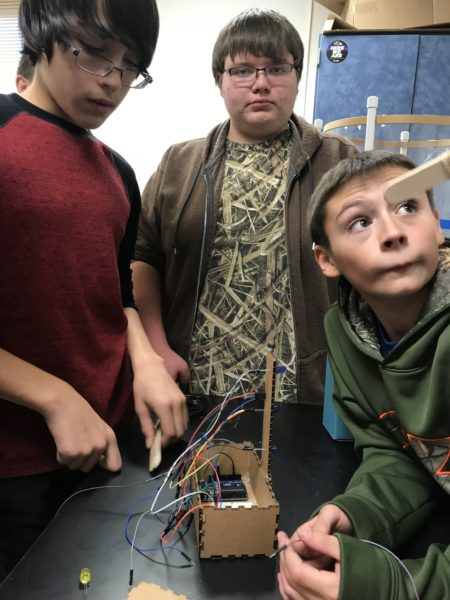 youth assembling noise monitor wiring