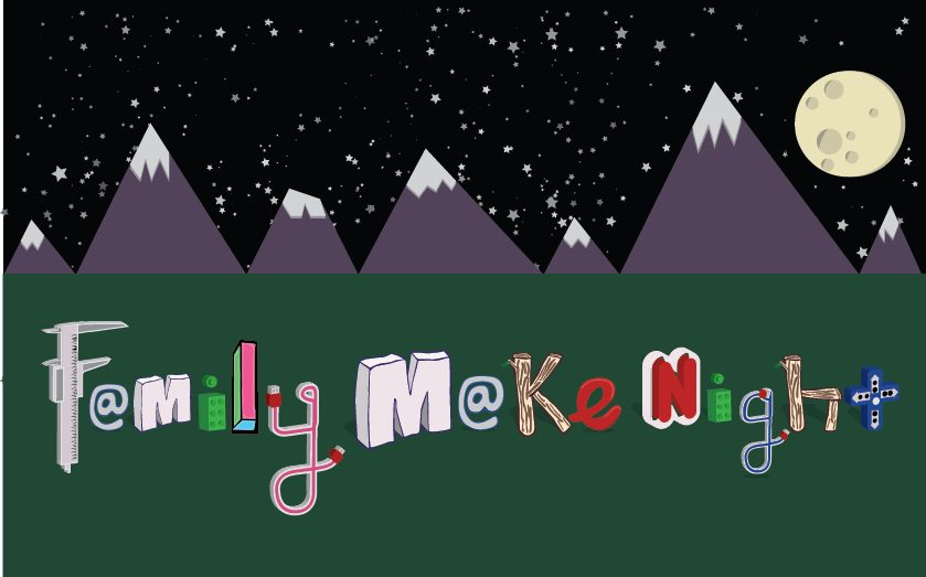 digital harbor foundation family make night crafty letters with starry background