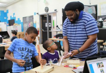 family make night youth and adult building stomp rocket