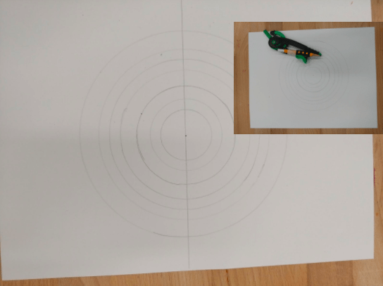 mandala student project draw a horizontal line through your circles