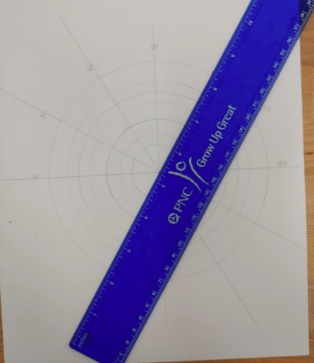 mandala student project pencil and ruler connect marks