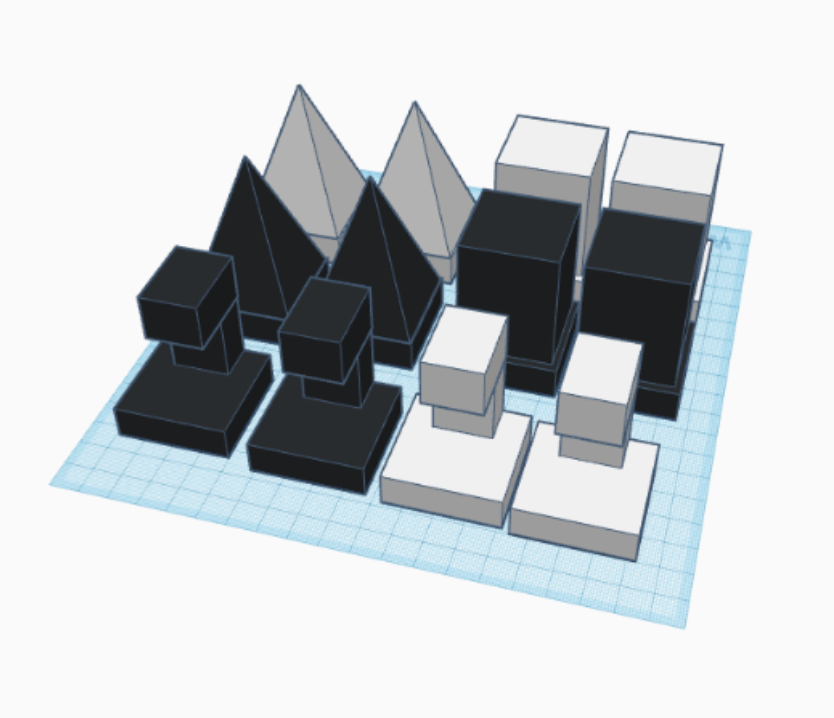 tinkercad prompts game pieces chess