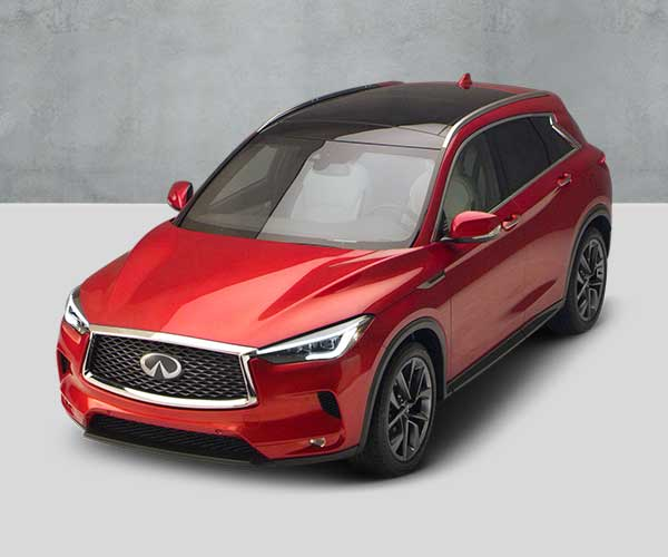 QX50 Red Angled Overhead View