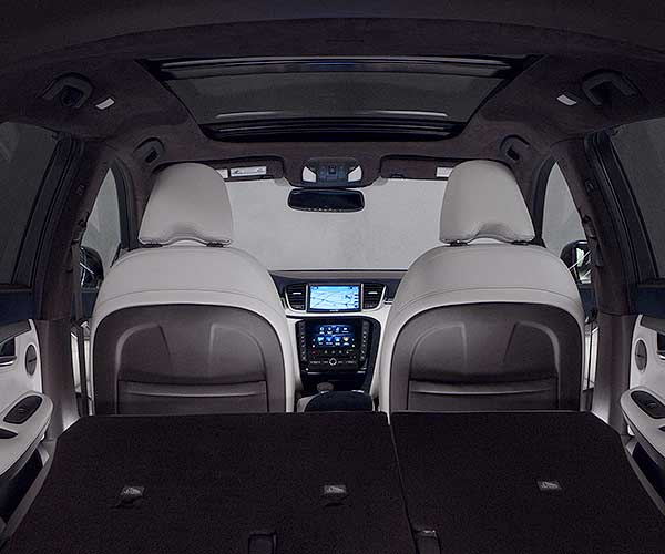 QX50 Rear Interior View
