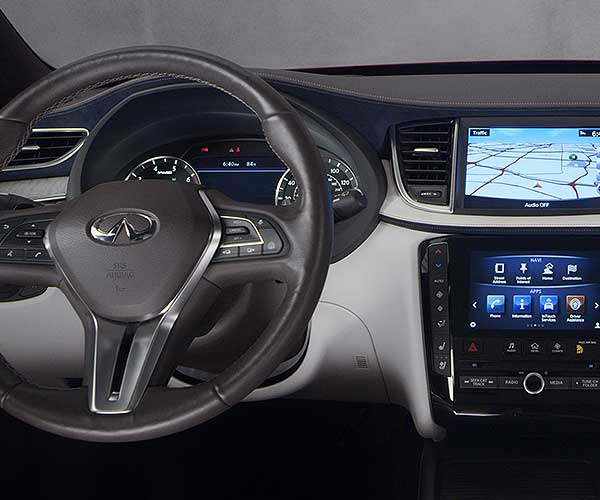 QX50 Steering Wheel and Dashboard
