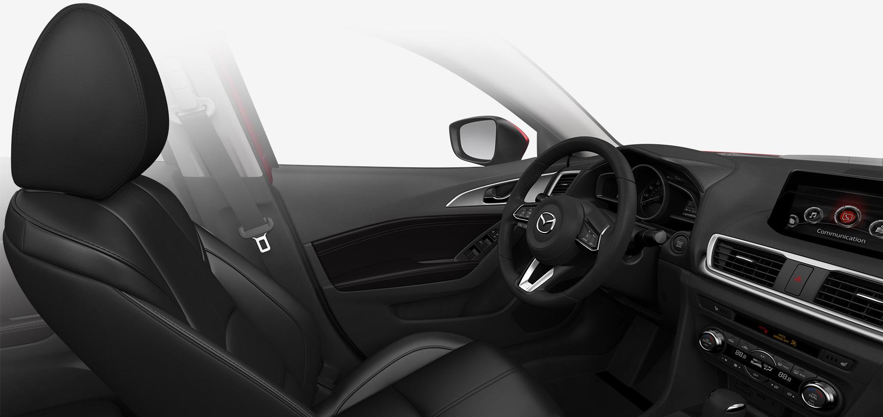 2018 Mazda3 Sedan, Black Leatherette