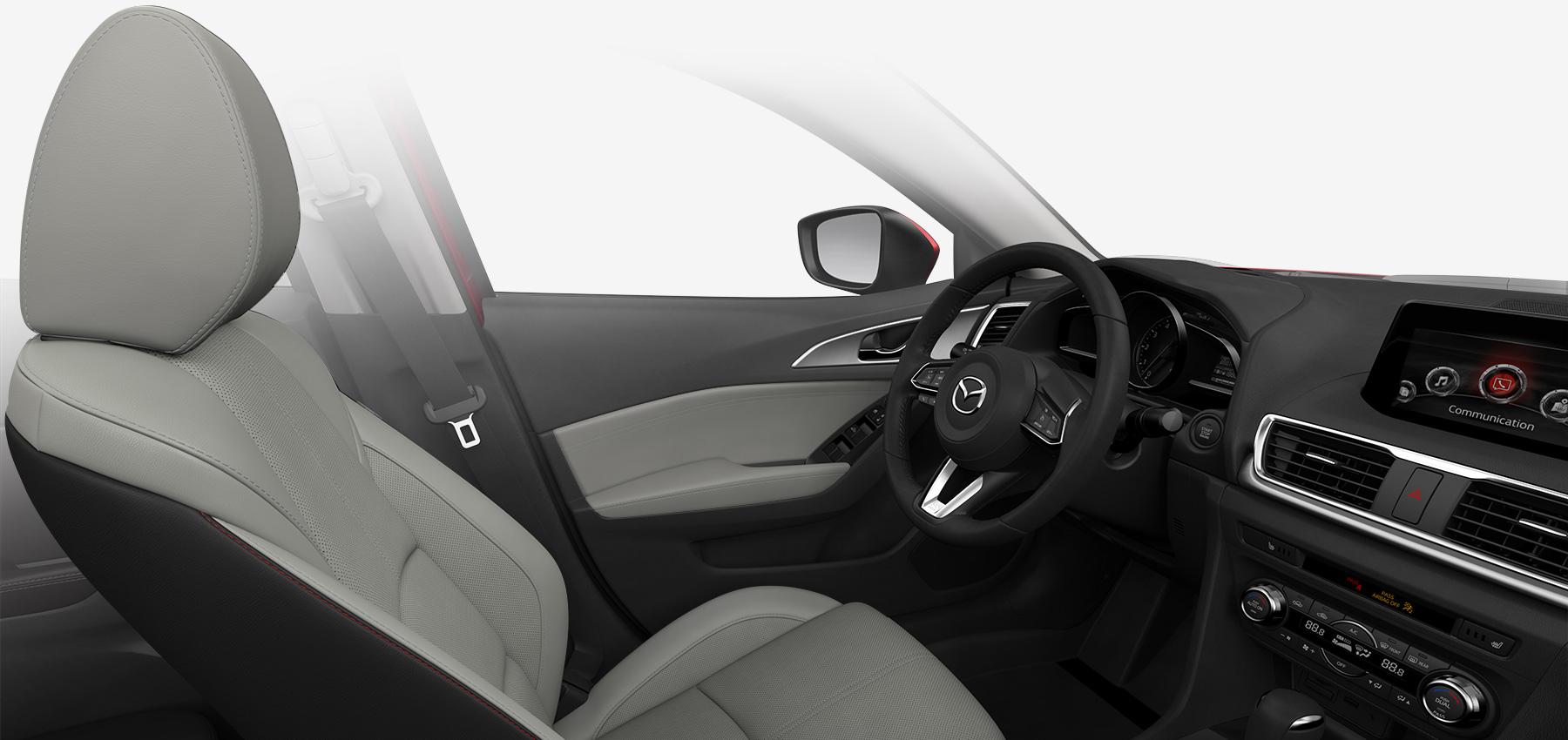 2018 Mazda3 Sedan, Parchment Leather