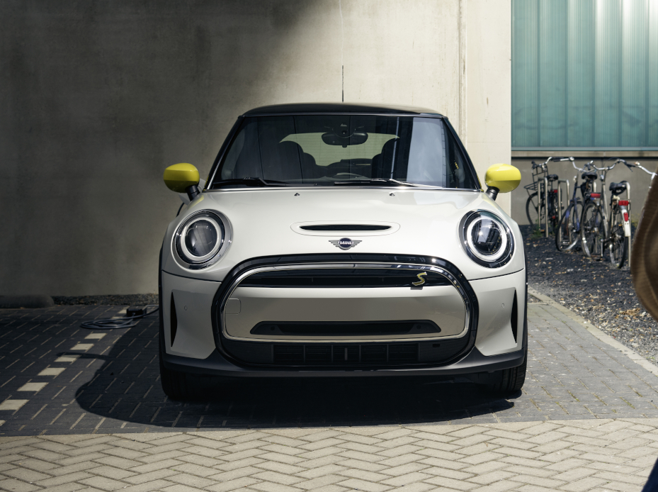 A 2022 MINI Cooper Electric 2 Door parked.