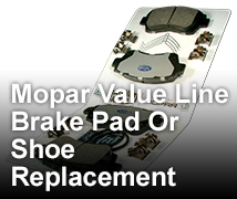 Mopar parts service coupons cjdr 24 brake pad or shoe replacement fandeluxe Images