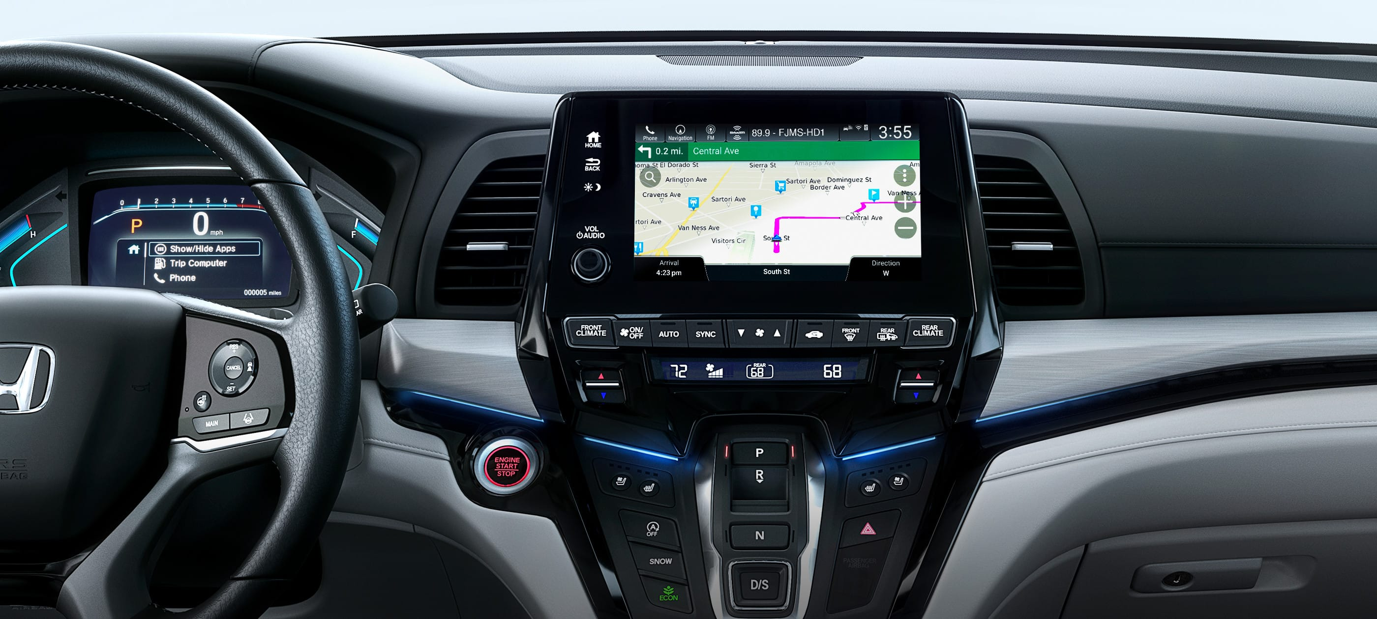 Honda Satellite-Linked Navigation System®