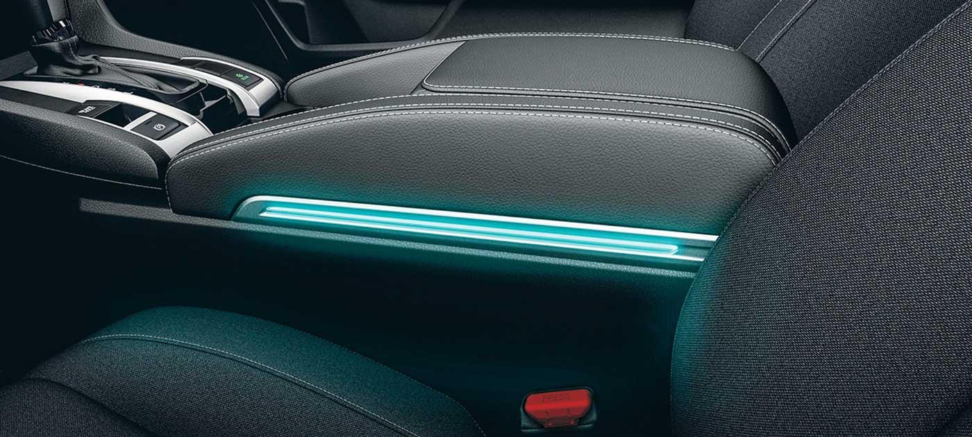 Iluminación del Reposabrazos - Color Azul