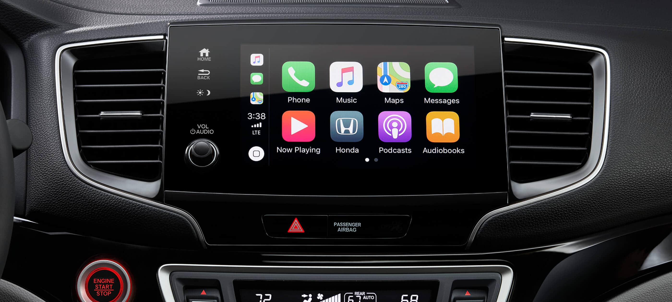 Integración con Apple CarPlay™ Disponible