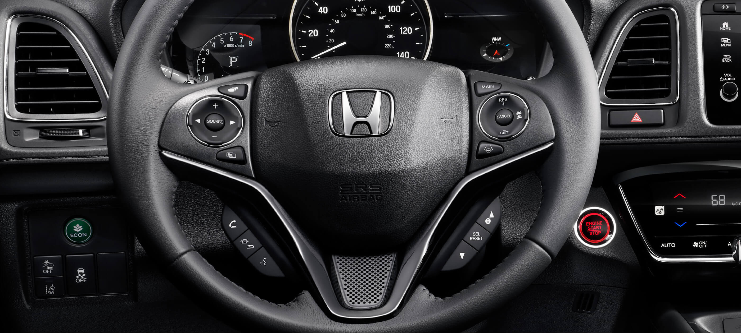 Leather-Wrapped Steering Wheel