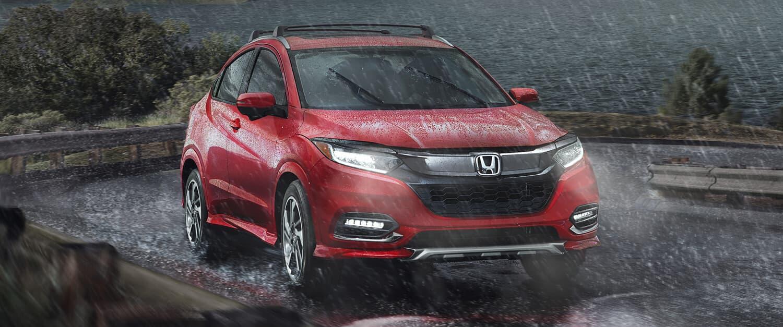 2019 Honda HR-V AWD Exterior Front Angle Rain