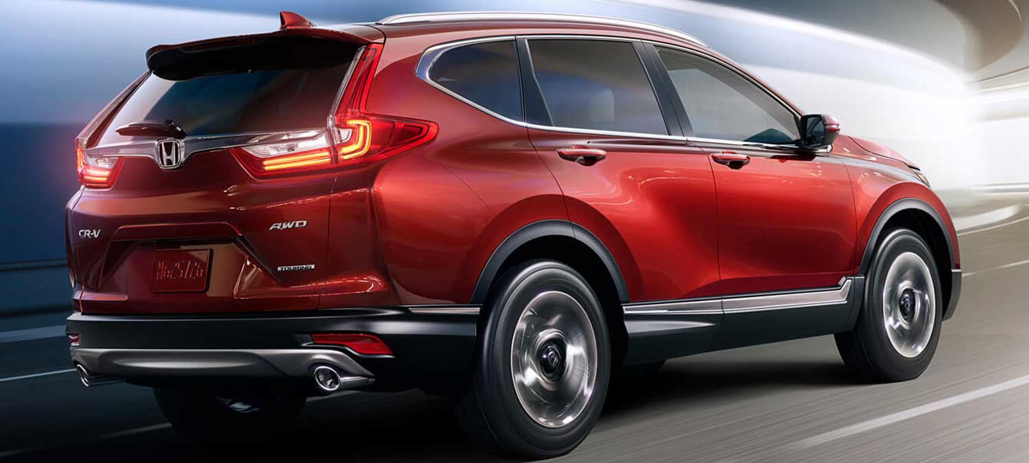 2019 Honda CR-V AWD Exterior Rear Angle Passenger Side