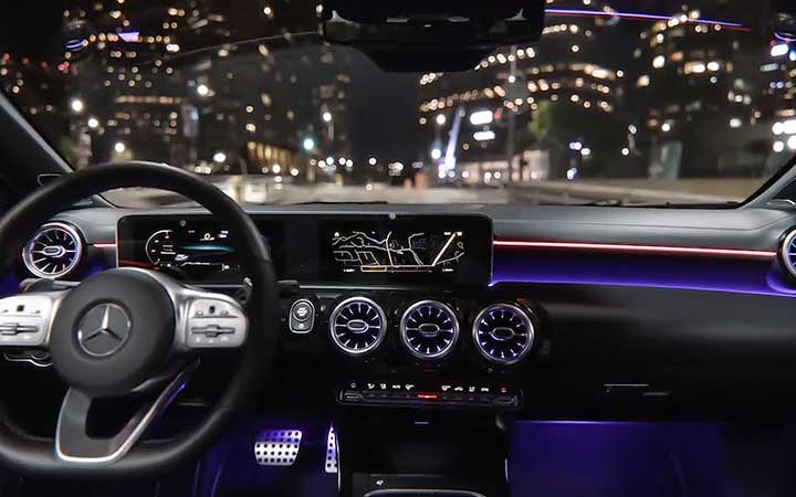 High-resolution displays. For high-definition driving.
