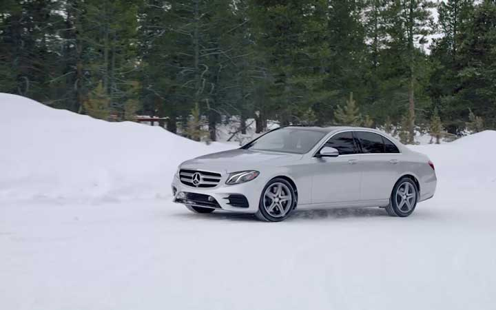You can't see around corners. But your E-Class can.
