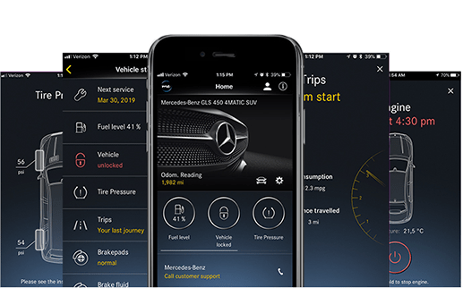 L'application <em>Mercedes me connect</em> App