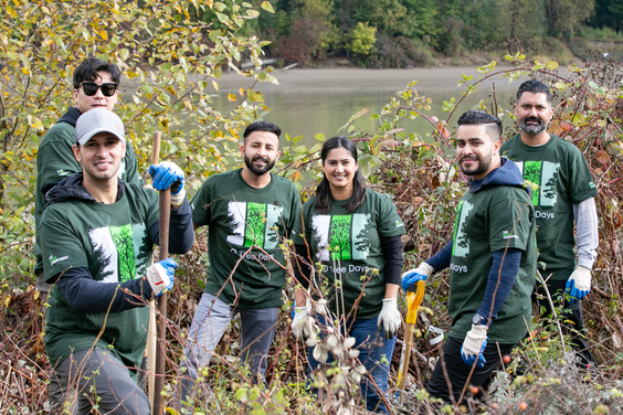 Volunteers at td tree days event