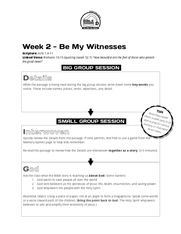BIBLE DIGGERS FOR KIDS - Year Three Curriculum - Book of Acts