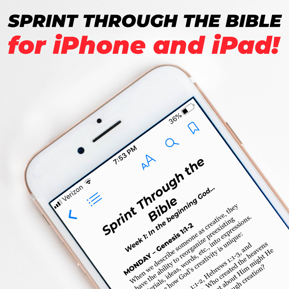 Sprint Through the Bible for iPhone and iPad