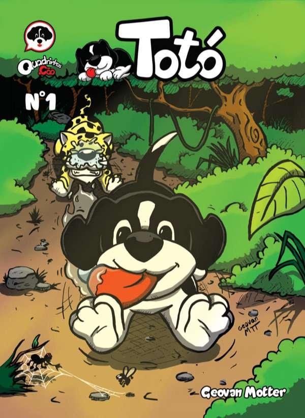 Totó é um cachorro preguiçoso, comilão e muito esperto. Nesta primeira edição ele vai se aventurar na selva Amazônica onde irá se deparar com uma onça faminta. Em uma segunda história Totó toca o terror na sua casa correndo atrás de uma barata muito encrenqueira. E ainda tem as tirinhas do Totó.