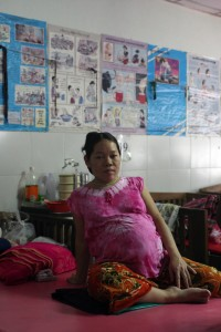 A pregnant woman at Mae Tao clinic on the Thai-Burma border