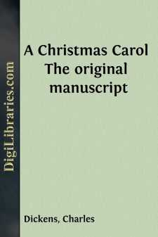 A Christmas Carol The original manuscript