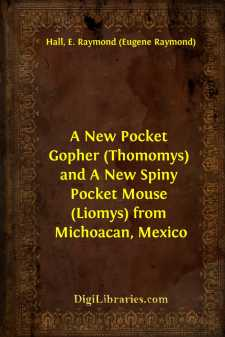 A New Pocket Gopher (Thomomys) and A New Spiny Pocket Mouse (Liomys) from Michoacan, Mexico