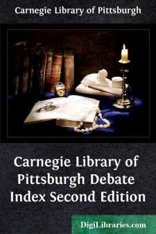 Carnegie Library of Pittsburgh Debate Index