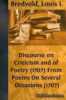 Discourse on Criticism and of Poetry (1707)