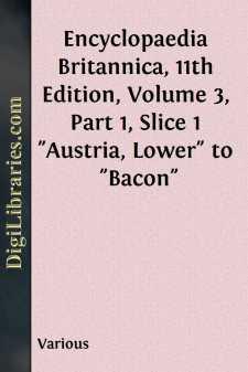 Encyclopaedia Britannica, 11th Edition, Volume 3, Part 1, Slice 1