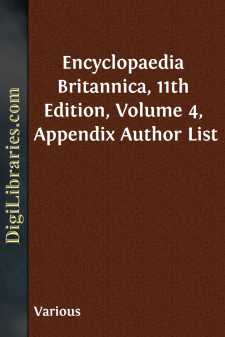Encyclopaedia Britannica, 11th Edition, Volume 4, Appendix