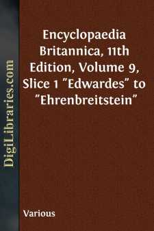 Encyclopaedia Britannica, 11th Edition, Volume 9, Slice 1