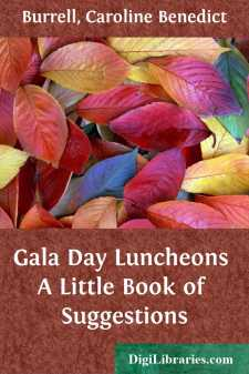 Gala Day Luncheons A Little Book of Suggestions
