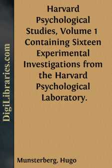 Harvard Psychological Studies, Volume 1 