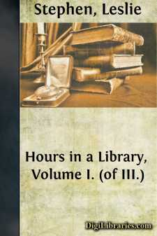 Hours in a Library, Volume I. (of III.)