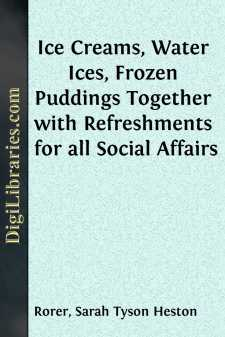 Ice Creams, Water Ices, Frozen Puddings Together with Refreshments for all Social Affairs