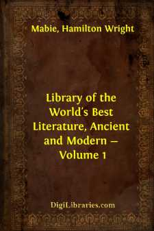 Library of the World's Best Literature, Ancient and Modern - Volume 1