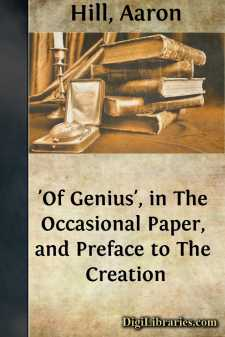 'Of Genius', in The Occasional Paper, and Preface to The Creation