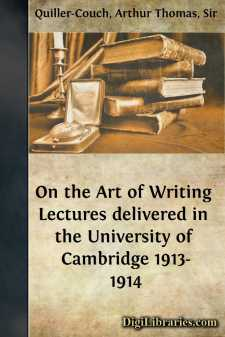 On the Art of Writing Lectures delivered in the University of Cambridge 1913-1914
