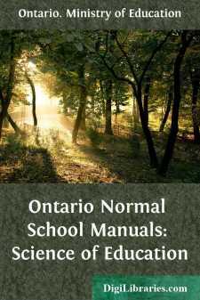 Ontario Normal School Manuals: Science of Education