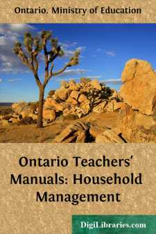 Ontario Teachers' Manuals: Household Management