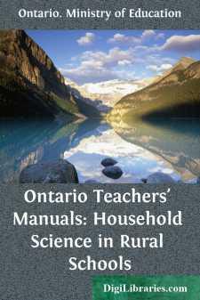 Ontario Teachers' Manuals: Household Science in Rural Schools