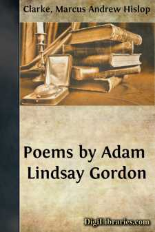 Poems by Adam Lindsay Gordon