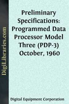 Preliminary Specifications: Programmed Data Processor Model Three (PDP-3)