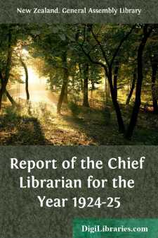 Report of the Chief Librarian for the Year 1924-25